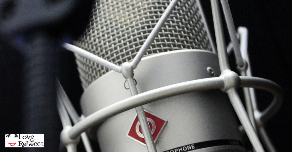 Image of microphone and LTR logo